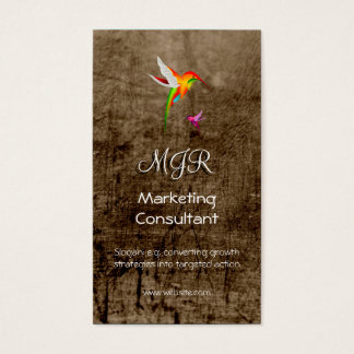 Monogram, Marketing Consultant, leather-effect Business Card