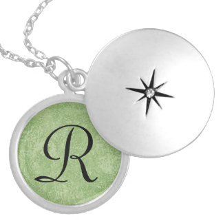 Monogram Marmorino Green Necklace