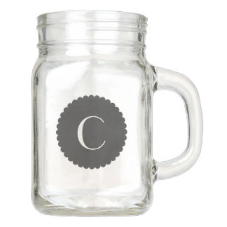 Monogram Mason Jar Drinkware Mug