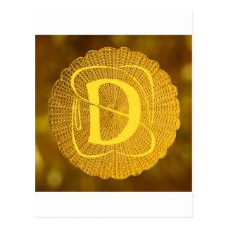 monogram - medallion postcard