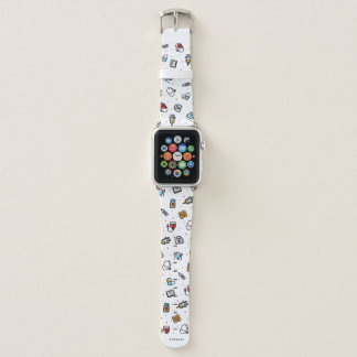 Monogram. Medical Pattern. For Doctors and Nurses Apple Watch Band