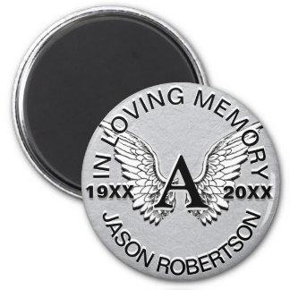 Monogram | Memorial | Angel Wings Magnet