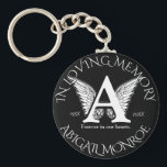 "Monogram | Memorial Keychain<br><div class=""desc"">Add a name to this monogram keychain to make a treasured keepsake. You can also change the background color.</div>"