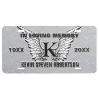 Monogram Memorial License License Plate