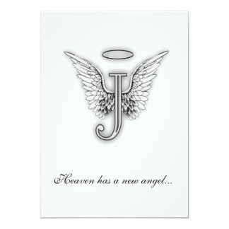 Monogram Memorial Tribute Letter J Card