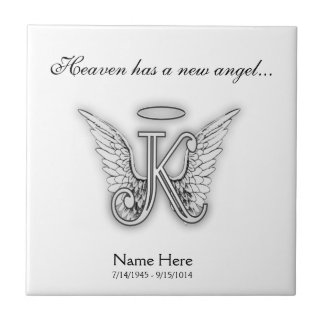 Monogram Memorial Tribute Letter K Tile