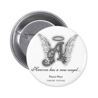 Monogram Memorial Tribute Ornament A Pin