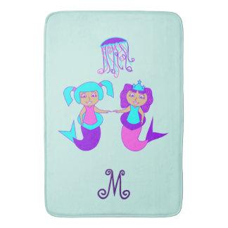 Monogram Mermaid Bath Mat