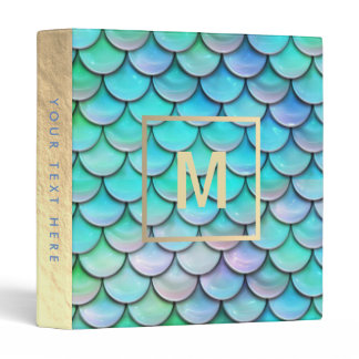 monogram mermaid fish scale binder