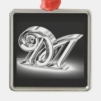 Monogram Metal Ornament