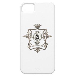 monogram Metallic crest  Iphone 5 case
