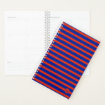 "Monogram Mini RB Striped Planner<br><div class=""desc"">mini monogram red and blue striped planner</div>"