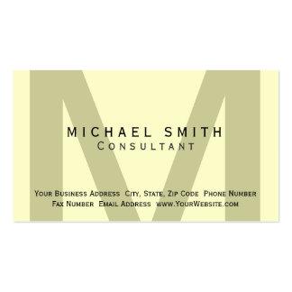 Monogram Minimal Consultant Business Card