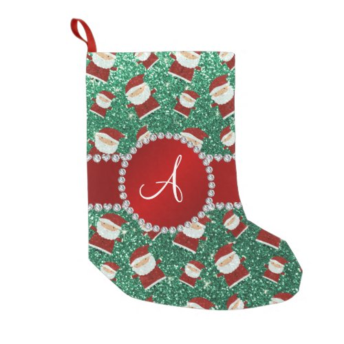 Monogram Santa Claus Small christmas stocking