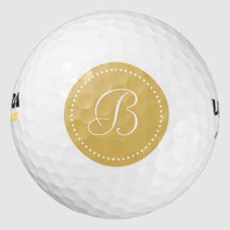 Monogram Misted Yellow with Dots Pack Of Golf Balls