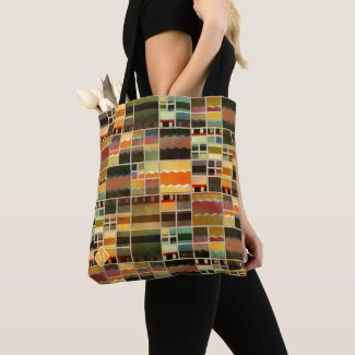 Monogram Modern Art Pattern Designer Tote Bag