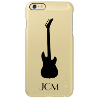 Monogram Modern Black Bass Guitar Incipio Feather Shine iPhone 6 Plus Case