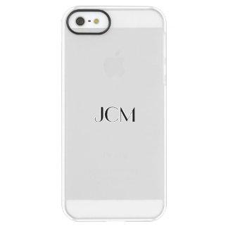 Monogram Modern Black Uncommon Permafrost® Deflector iPhone 5 Case