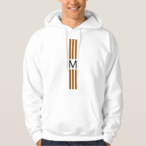 Monogram Modern Brown Stripes Hoodie