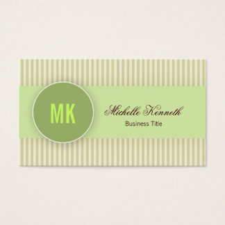 Monogram Modern Business Card Design