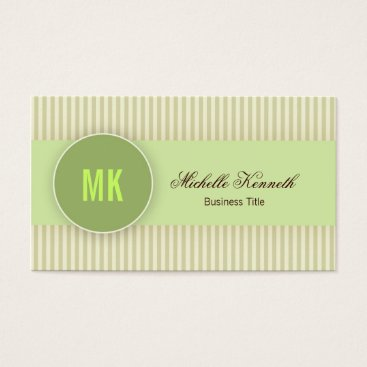 Professional Business Monogram Modern Business Card Design