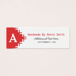 Monogram modern business, handmade, and craft card