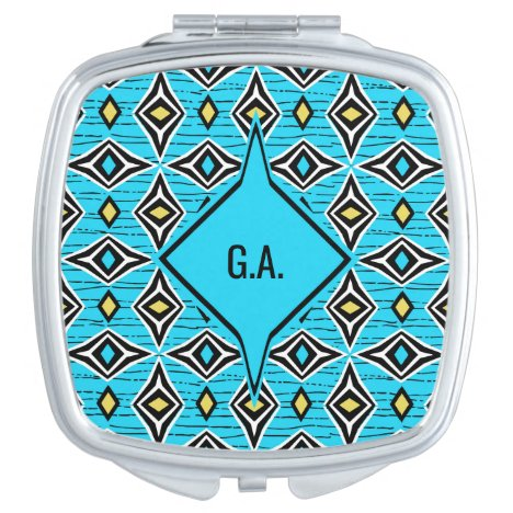 Monogram modern chic tribal aztec design makeup mirror