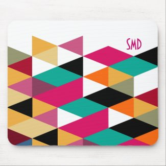 Monogram Modern Colorful Geometric Pattern