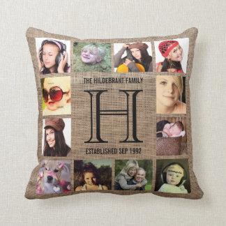 Monogram Modern Family 12 Instagram Photos Pillows