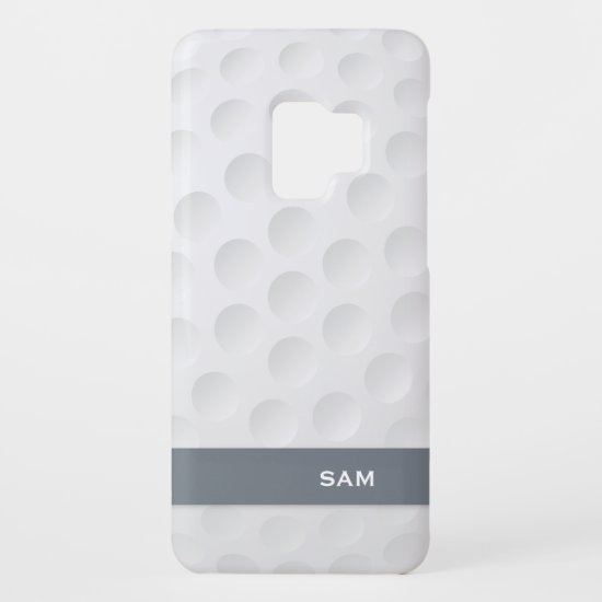 Monogram. Modern Golf Ball Pattern. Case-Mate Samsung Galaxy S9 Case
