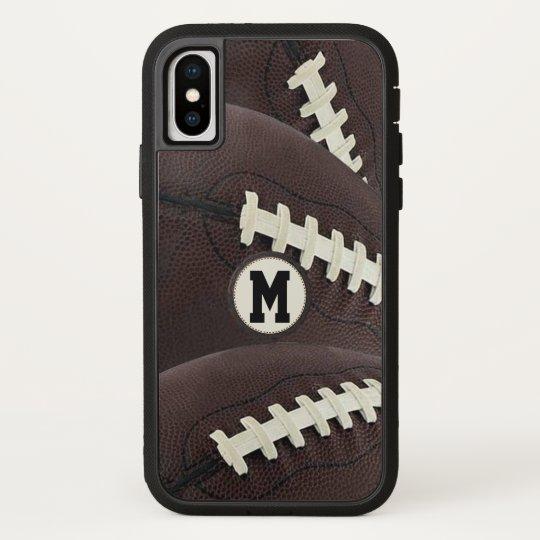 Monogram Modern Graphic Football iPhone iPhone X Case