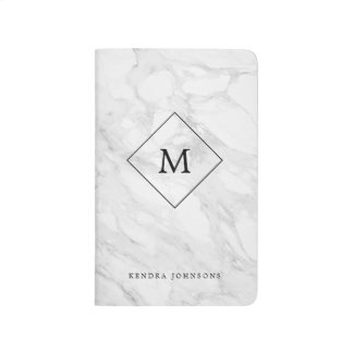 Monogram modern marble journal