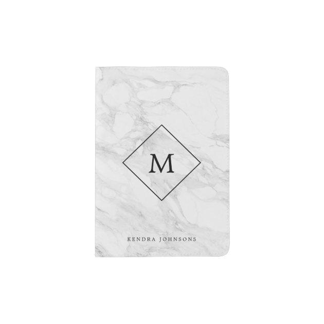 Diamond Passport Holder Fabric Personalized