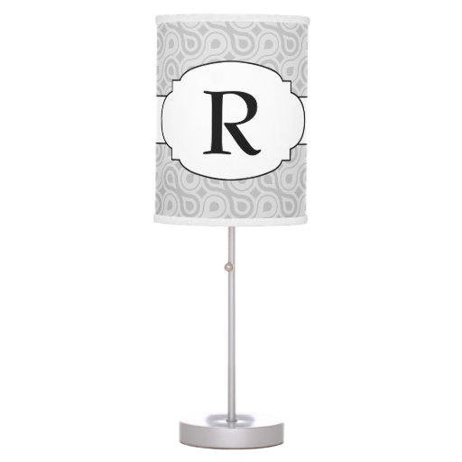 Monogram Modern Pattern Print Lamp Any color!