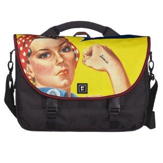 Monogram Modern Pink Yellow Pattern Laptop Bag