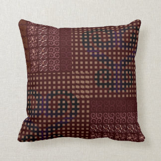 Monogram Modern Throw Pillows With African Symbols