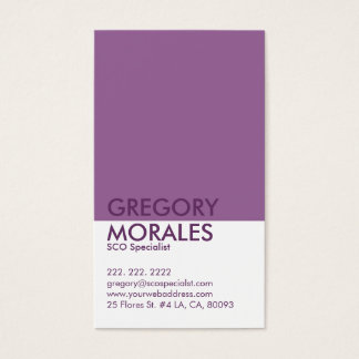 Monogram Modern White & Purple SEO Specialist Business Card