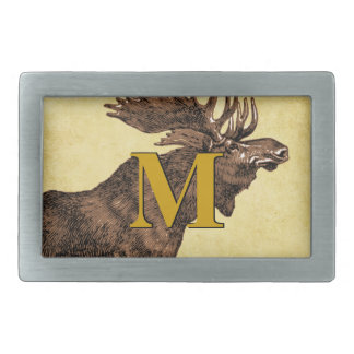 Monogram Moose Belt Buckle