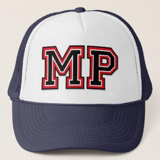 Modern Monogram Blue Trucker Hat