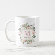 Monogram Mug | Spring Boho Flowers