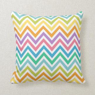 Monogram Multi Color Chevron Zigzag Print Pillow