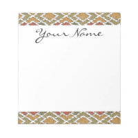 Monogram Multi Color Tribal Ikat Diamond Pattern Notepad