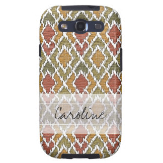 Monogram Multi Color Tribal Ikat Diamond Pattern Samsung Galaxy SIII Cover