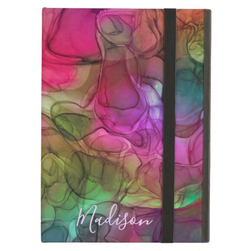 Monogram multicoloured marbling dreams case for iPad air