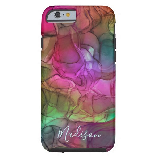 Monogram multicoloured marbling dreams tough iPhone 6 case