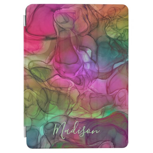 Monogram multicoloured marbling dreams iPad air cover