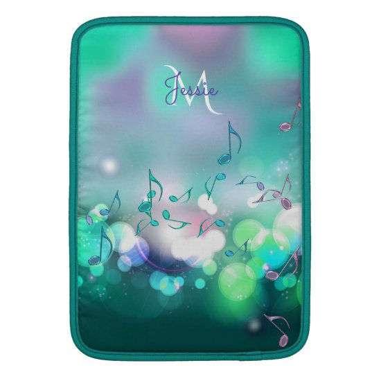 Monogram Music Musical Notes Macbook Air Sleeve