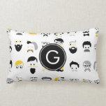Monogram Mustache Pillows