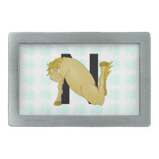 Monogram N Cartoon Horse Personalised Belt Buckle