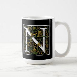 Monogram N Color Mug